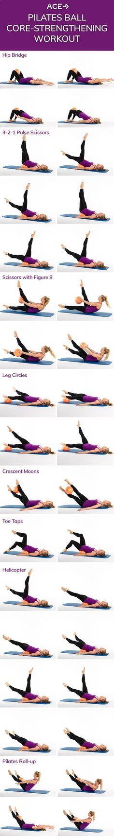 The Pilates Ball Core-Strengthening Workout. Contessa Siders · yoga e44cf5b76cc8