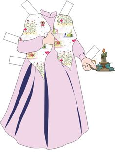 MRS CLAUS from Paper Dolls by Gail 3 of 4