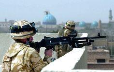 바그다드 전투 중인 영국군