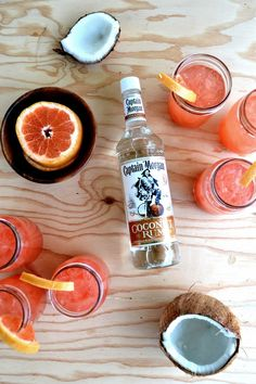 Crack open some a Captain Morgan Coconut rum recipe and mix up some cocktails. #glup #drink