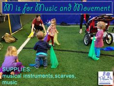 Today we had a certified Kindermusik instructor treat us to an awesome playgroup.  We learned that music can actually create neural pathways in our kids brains that will set them up for future academic success.  The big and little ones had an awesome time banging on instruments and dancing around like butterflies with scarves.