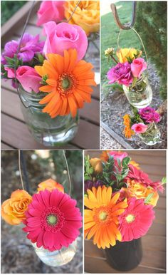 Pink and Orange Flowers // Engagement Party