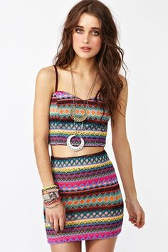 Neomi Stripe Skirt
