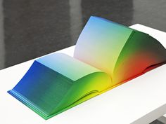 Artist Tauba Auerbach's Book Sculptures Experiment with the Concept of Tetrachromatic Vision