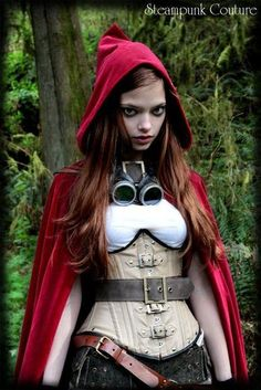 Babygirl just pick 1 Red Ridin Hood or Steampunk? Mom whats Steampunk ! Nothing