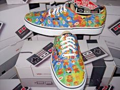 43.51$  Buy here - http://vinmd.justgood.pw/vig/item.php?t=u1ebnc0113 - Vans Authentic Womens X Nintendo Super Mario Bros Canvas Skate shoes Size 9 NWT