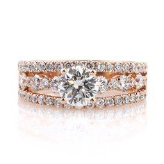 LOVE=ROSE GOLD!  2.59ct Round Brilliant Cut Diamond Engagement Anniversary Ring