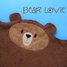A sweet and easy pattern for a cuddly bear lovie - easy enough to make in an afternoon, perfect for baby shower gifts. Teddy Bear Patterns Free, Woodland Critters, Hand Quilting, Digital Pattern, Fabric Scraps, Softies, Quilt Patterns, Sewing Patterns, Patchwork Patterns