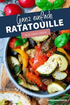 Mein Ratatouille-Gemüse mit Aubergine, Zucchini und Paprika wird erst auf dem Herd und anschießend im Ofen zubereitet. Meal Prep, Beef, Healthy Recipes, Meals, Zucchini, German, Food, Inspiration, Best Healthy Recipes