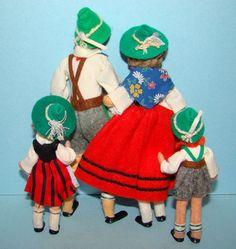 german family felt baps dolls via Flickr