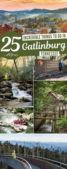 The Best 25 Things to do in Gatlinburg, Tennessee and the Smoky Mountains Vacation Places, Vacation Spots, Places To Travel, Places To Visit, Family Vacations, Best States To Visit, Family Travel, Travel Destinations, Great Smoky National Park
