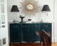 My current color obsession (sideboard): Farrow & Ball's Hague Blue.  It truly the most deep and wonderful blue I've ever seen.  It is the most inky blue with black undertones, I love it. It's deep and intense and modern and yet totally classic.