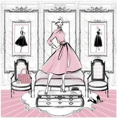 Megan Hess — Grace Kelly Room (686×699)