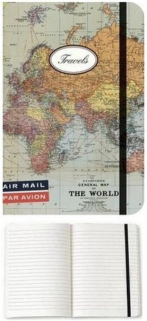 The Small Cavallini World Journal has a handsome full-color world map wrapping around the front and back covers. Nice quality paper and the ...