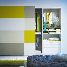 Top 30 Modern Wardrobe Design Ideas For Your Small Bedroom Bedroom Closet Doors, Sliding Wardrobe Doors, Wardrobe Design Bedroom, Bedroom Furniture Design, Modern Wardrobe, Sliding Doors, Nursery Furniture, Fine Furniture, Best Wardrobe Designs