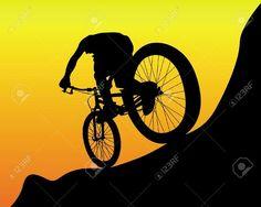 Mountain Biking Discover black silhouette of a mountain biker on an orange background Black Silhouette Of A Mountain Biker On An Orange Background . Bicycle Tattoo, Bike Tattoos, Bicycle Art, Bicycle Design, Bike Silhouette, Black Silhouette, Bike Riding Tips, Dirt Bike Shirts, Cycling Art