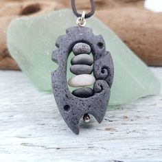 Hand carved rock necklaces by RockYouWear Rock Necklace, Rock Jewelry, Clay Jewelry, Stone Jewelry, Jewelry Crafts, Handmade Jewelry, Stone Necklace, Jewellery, Ideas Dremel