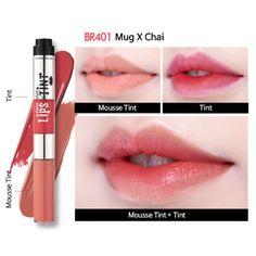 Etude House Twin Shot Lips X Tint BR401 Mug X Chai Shot Moose Tint & Tint Shot