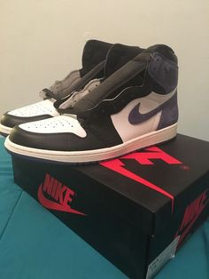 d277f0208ba Nike Air Jordan 1 High OG Retro NRG Blue Moon 555088-115 Size 14 #
