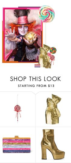 """""""alice in candy-land"""" by izoche ❤ liked on Polyvore featuring Bloomingdale's, Yves Saint Laurent, Edie Parker, contestentry and DisneyAlice"""