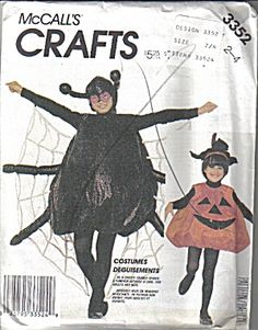 McCalls Crafts Pattern for Toddler Size 2-4