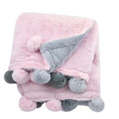 Just Born Pom-Pom Plush Blanket In Pink - The Just Born Pom-Pom Plush Blanket will keep your little one cozy and warm. Featuring a whimsical pom-pom design, this super-soft blanket is perfect for the nursery, in the stroller, tummy time and so much more. Stroller Blanket, Swaddle Blanket, Receiving Blankets, Fluffy Blankets, Baby Girl Blankets, Cute Blankets, Pink Blanket, Mermaid Blanket, Pink Tone