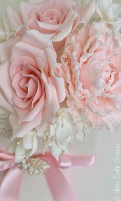 91dece80a33cc9 Fleurs Pate A Sucre, Tissu Rose, Fleurs En Tissu, Couleurs Pastel, Pivoine