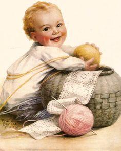 Vintage magazine illustration Annie Benson Muller by BigGDesigns