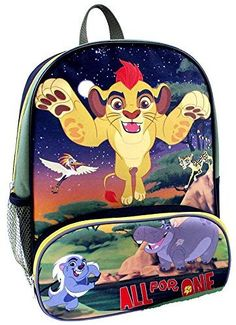 """Disney The Lion Guard Kion """"All for One"""" 14 Inch Backpack Bookbag"""