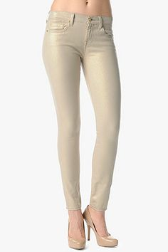 7 For All Mankind   The Skinny in Sand Iridescent