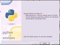 Python 1  Installation and beginner's tutorial