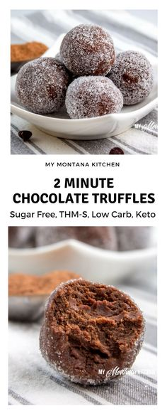 27 Low-Carb Keto Desserts for Christmas If you need a quick sweet treat, try this 2 Minute Chocolate Truffles Recipe. Seriously, you can have a decadent, velvety, rich truffle in less than 2 minutes - and with NO guilt! Keto Desserts, Keto Friendly Desserts, Quick Keto Dessert, Low Carb Keto, Low Carb Recipes, Snack Recipes, Dessert Recipes, Keto Fat, Diet Recipes