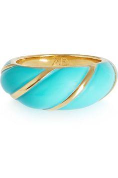 Aurélie Bidermann | Diana gold-plated resin ring