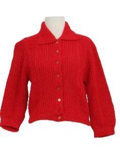 1950's Womens Cardigan Sweater