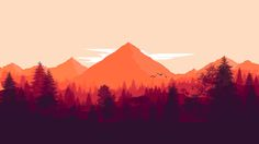 This is my first ps. drawing inspidired by the game Firewatch :)