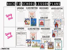 Back to School Lesson Plans for the Intermediate Grades!