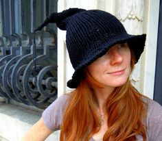 Little Knitted Witch Hat.  Got Mine Today!!! LOVE IT!!!  Purchased from ChineseArithmetic on Etsy.  Fits great, feel wonderful.  SO MUCH FUN!