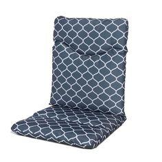 Outdoor Highback Patio Chair Cushion