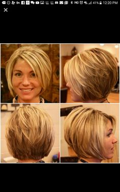 Here are 15 astonishing short bob haircuts for pretty women, from Short-Haircut: The long bob hairstyle is getting more and more popular among women including celebrities. Bob hairstyles are great…More Stacked Bob Hairstyles, Long Bob Hairstyles, Hairstyles 2016, Wedge Hairstyles, Fashion Hairstyles, Trendy Hairstyles, Braided Hairstyles, Wedding Hairstyles, Bob Haircuts For Women