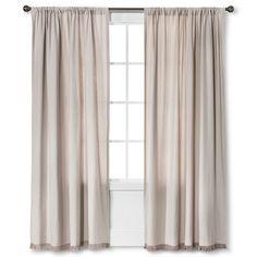 Nate Berkus™ Fringed Herringbone Curtain Panel (master bedroom/closet curtains, $24-$36)
