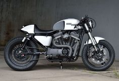 "Harley-Davidson XL883 Cafe Racer ""Killer Cafe"" by Kustom Research #motorcycles #caferacer #motos 