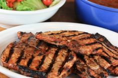Spicy Pork Chops with Bush's Grillin' Beans