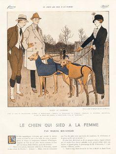Bernard Boutet de Monvel 1912 Sighthound Greyhound Race