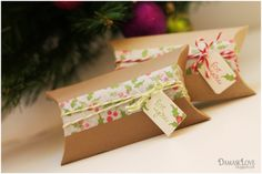 Gift wrapping with pre-made washi tape. From Damask Love Blog