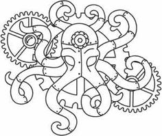 how to draw an octopus octopus silhouette patterns coloring book octopus clip 6799