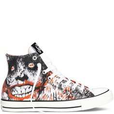 75b5edf54cbd Chuck Taylor DC Comics Joker white  red multi I effing want these Joker  Converse