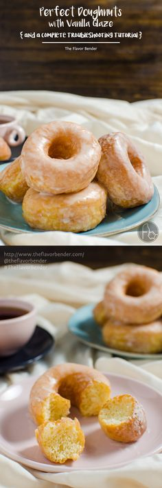 Perfect Glazed Doughnuts - The guide to Perfect Doughnuts with a vanilla glaze with a complete troubleshooting guide. Now you can have perfect doughnuts every single time - VIDEO AND RECIPE @kitchenaidusa