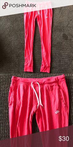Nike joggers- red Nike joggers- red Nike Pants Track Pants & Joggers