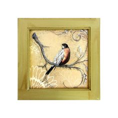 Bird Wall Plaque Framed