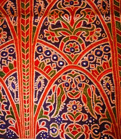 Ahir embroidery from Kutch, Gujarat Textile Fabrics, Textile Prints, Textile Design, Textile Art, Embroidery Motifs, Indian Embroidery, Hand Embroidery Designs, Embroidery Blouses, Indian Folk Art